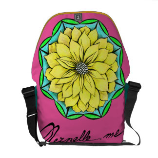 YELLOW POINSETTIA Messenger Bag