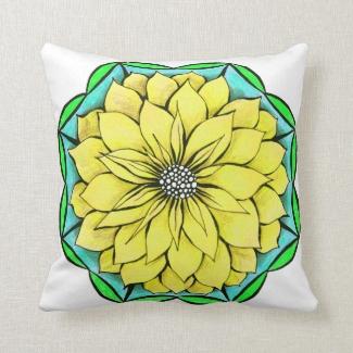 YELLOW POINSETTIA Square Pillow