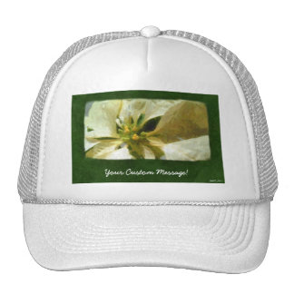 Yellow Poinsettias 1 Painterly Trucker Hats