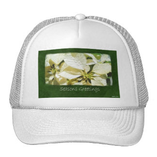 Yellow Poinsettias 2 - Seasons Greetings Trucker Hat
