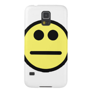 Yellow Poker Face Stare Smiley Face Case For Galaxy S5