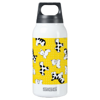 Yellow Polka Dot Baby Animals Thermos Water Bottle