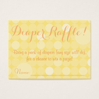 Yellow Polka Dot Baby Shower Diaper Raffle Tickets