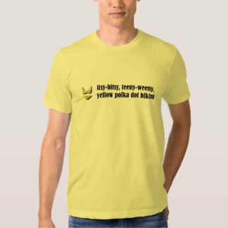 Yellow Polka Dot Bikini Shirt