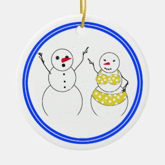 Yellow Polka Dot Bikini Time Christmas Tree Ornament