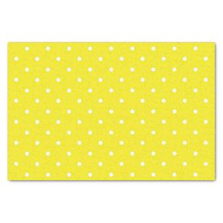 "Yellow Polka Dot Design 10"" X 15"" Tissue Paper"