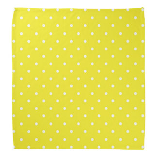 Yellow Polka Dot Design Bandana