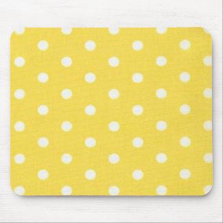 Yellow Polka Dot Design Mouse Pad