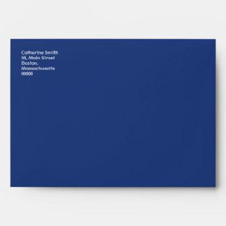 Yellow Polka Dot Envelope With Blue