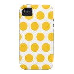 Yellow polka dot iPhone 4/4S covers