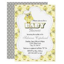 Yellow Polka Dot Owl | Baby Shower Theme Card