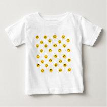 Yellow Polka Dot Pattern Baby T-Shirt