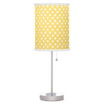 Yellow polka dot pattern desk lamp