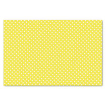 Yellow Polka Dot Pattern Tissue Paper