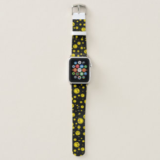 Yellow Polka Dot Smileys Apple Watch Band