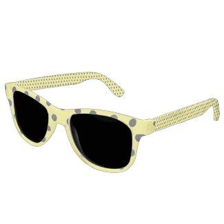 Yellow Polka Dot Sunglasses
