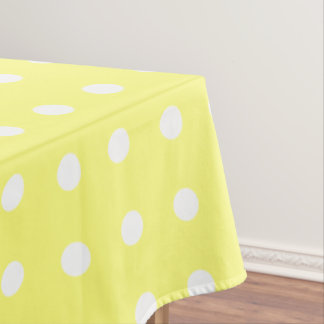 Yellow Polka Dot Tablecloth