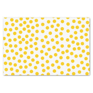 "Yellow Polka Dots 10"" X 15"" Tissue Paper"
