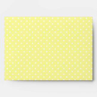 Yellow Polka Dots A7 Envelope