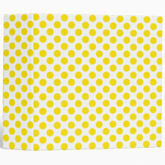 Yellow Polka Dots Binder