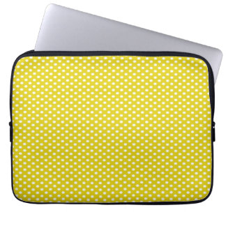 Yellow Polka Dots Computer Sleeve