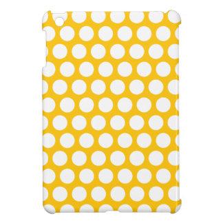 Yellow polka dots cover for the iPad mini