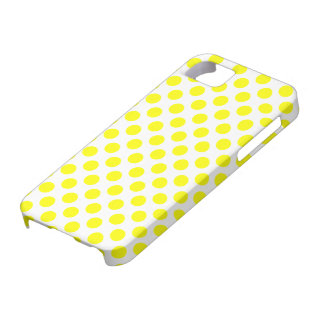 Yellow Polka Dots iPhone Case
