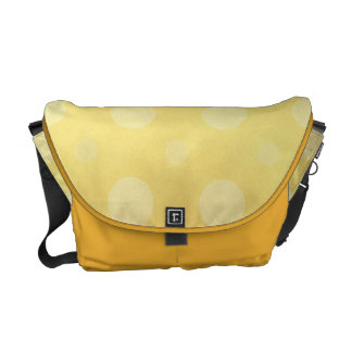Yellow Polka Dots Messenger Bag