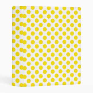 Yellow Polka Dots Mini Binder