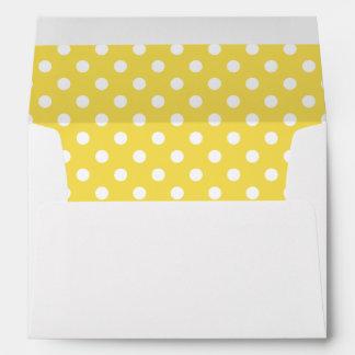 Yellow Polka Dots Pattern Envelope