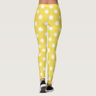 Yellow Polka Dots Pattern Leggings