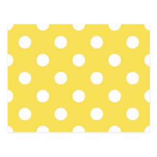 Yellow Polka Dots Pattern Postcard