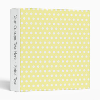Yellow polka dots pattern. Spotty. 3 Ring Binder