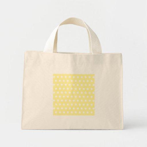 Yellow polka dots pattern. Spotty. Canvas Bag