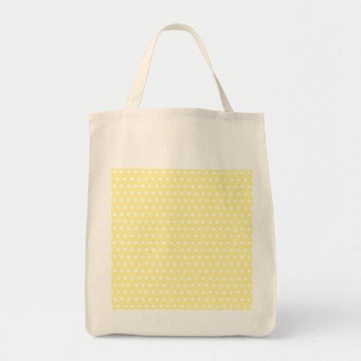 Yellow polka dots pattern. Spotty. Tote Bag