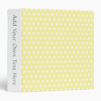 Yellow polka dots pattern. Spotty. Binder