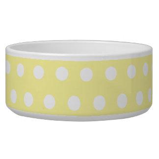 Yellow polka dots pattern. Spotty. Bowl