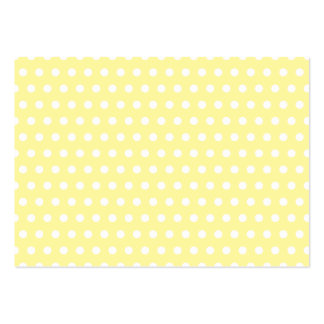 Yellow polka dots pattern. Spotty. Business Card Templates