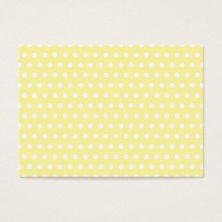 Yellow polka dots pattern. Spotty. Business Card