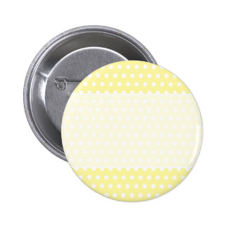 Yellow polka dots pattern. Spotty. Button