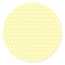 Yellow polka dots pattern. Spotty. Classic Round Sticker