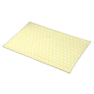 Yellow polka dots pattern. Spotty. Cloth Placemat