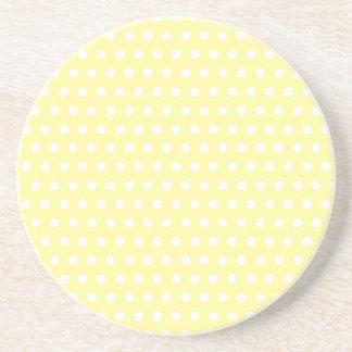 Yellow polka dots pattern. Spotty. Coasters