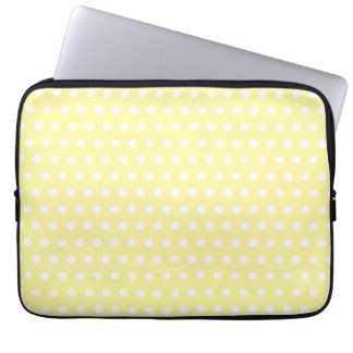 Yellow polka dots pattern. Spotty. Computer Sleeve