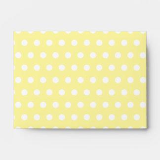 Yellow polka dots pattern. Spotty. Envelope