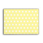 Yellow polka dots pattern. Spotty. Envelopes