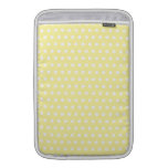 Yellow polka dots pattern. Spotty. Sleeves For MacBook Air