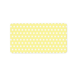 Yellow polka dots pattern. Spotty. Personalized Address Labels