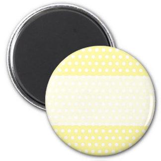 Yellow polka dots pattern. Spotty. Magnet