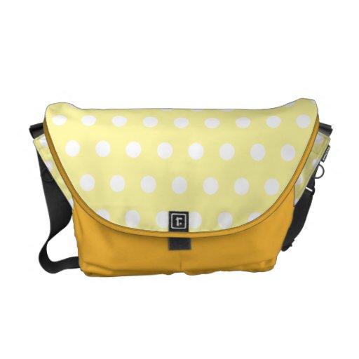 Yellow polka dots pattern. Spotty. Commuter Bags
